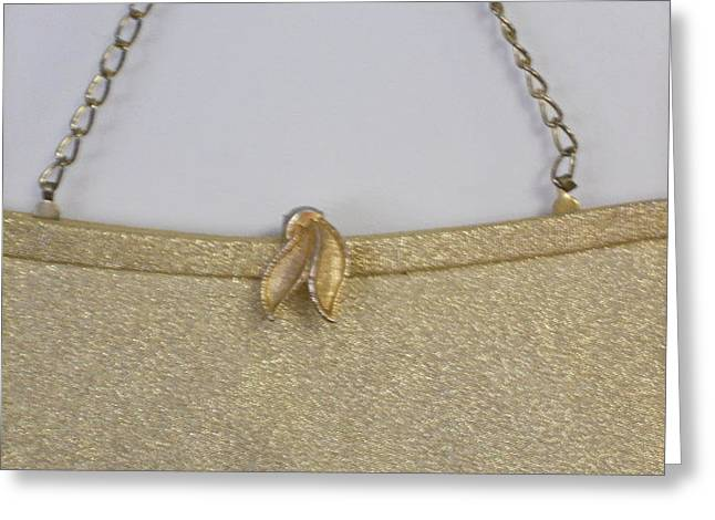 Gold Lame Greeting Cards - Fancy Dancy Purse Greeting Card by Dotti Hannum