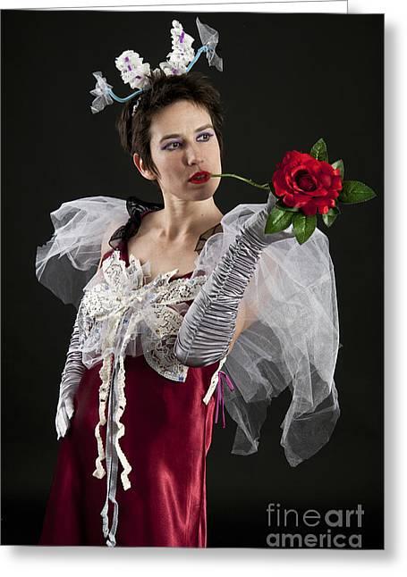 Cool Attitude Greeting Cards - Fancy dress princess 2 Greeting Card by Ilan Amihai