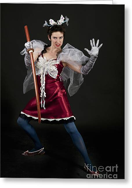 Women Only Greeting Cards - Fancy dress princess  Greeting Card by Ilan Amihai