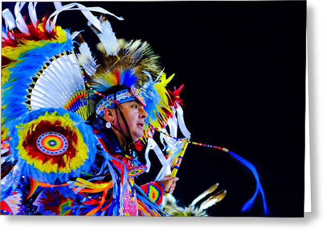Fancy-dancer Greeting Cards - Fancy Greeting Card by Valerie  Avalos