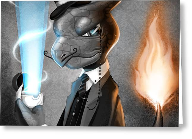 Tophat Greeting Cards - Fancy with Fire Greeting Card by Michael Myers