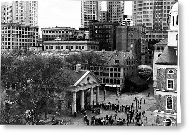 Faneuil Hall Marketplace Greeting Card by John Rizzuto