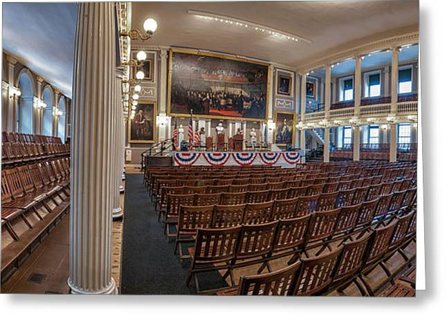 Faneuil Hall Greeting Cards - Faneuil Hall Greeting Card by Scott Thorp