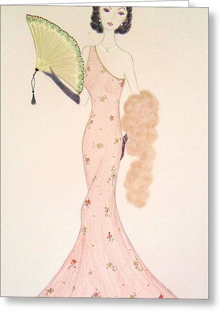 Ball Gown Greeting Cards - Fanfare Greeting Card by Christine Corretti