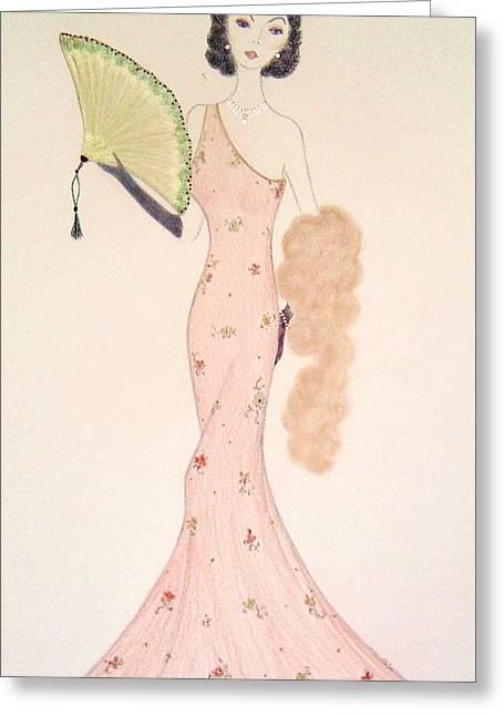 Fanfare Greeting Card by Christine Corretti