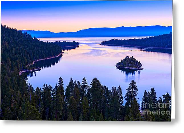Sunset Bay State Park Greeting Cards - Fannette Island Sunrise Greeting Card by Jamie Pham
