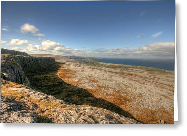 Aran Islands Greeting Cards - Fanore village view Greeting Card by John Quinn