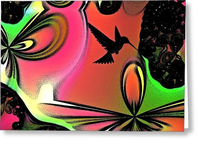 Hummingbird Wall Art Greeting Cards - Fantasia 3 Greeting Card by Sharon Lisa Clarke