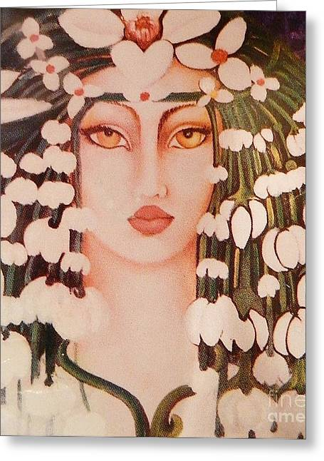 Origional Greeting Cards - FANTASIA  Art Deco Greeting Card by Gunter  Hortz