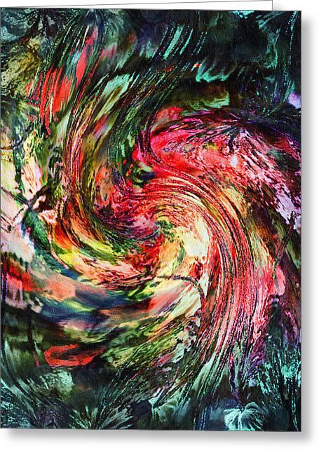 Abstract Digital Mixed Media Greeting Cards - Fantasia By Night-Abstract Greeting Card by Georgiana Romanovna