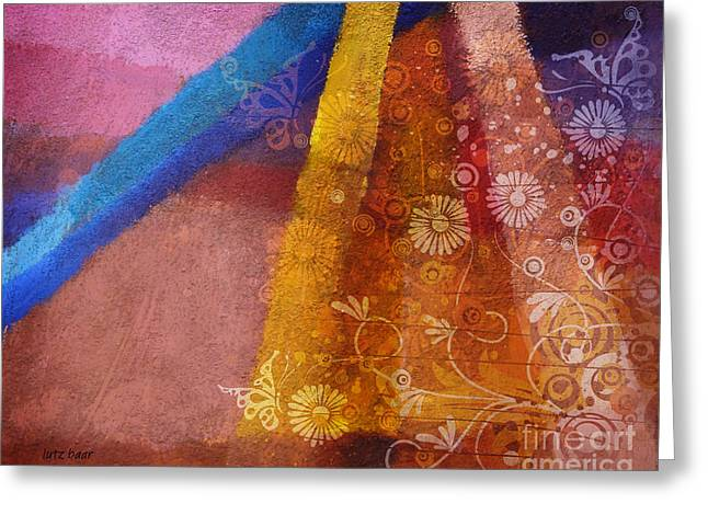 Floral Digital Digital Mixed Media Greeting Cards - Fantasia I Greeting Card by Lutz Baar
