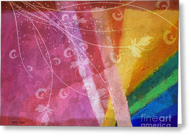 Compositions Mixed Media Greeting Cards - Fantasia II Greeting Card by Lutz Baar