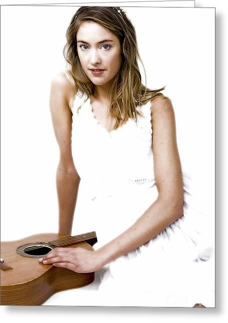 Angel Blues Greeting Cards - Fantasia...  Greeting Card by Nina Stavlund