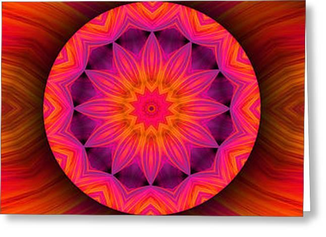Modern Digital Art Digital Art Greeting Cards - Fantastic Flower Greeting Card by Hanza Turgul