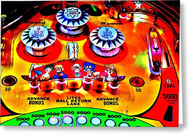 80s Greeting Cards - Fantastic Playfield Greeting Card by Benjamin Yeager