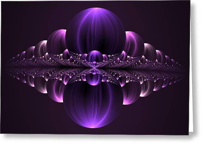 Mystic Art Greeting Cards - Fantastic Purple Skyline Greeting Card by Gabiw Art