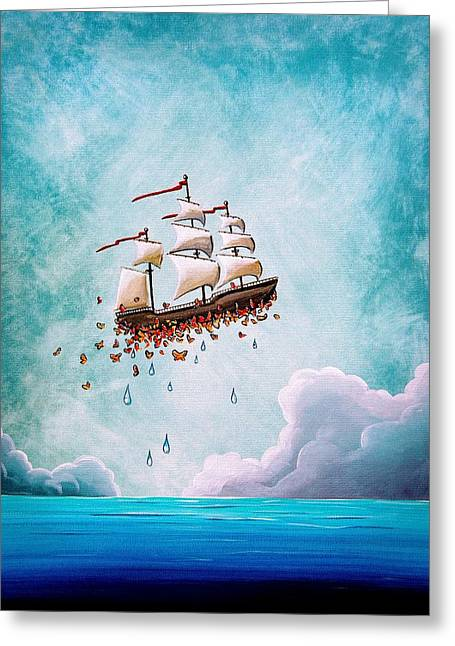 Masted Ships Greeting Cards - Fantastic Voyage Greeting Card by Cindy Thornton