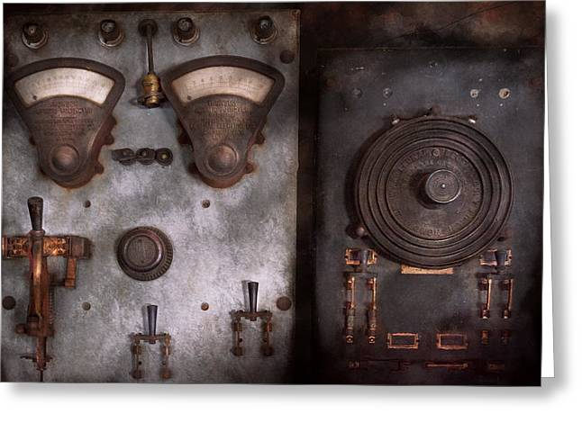 Edison Greeting Cards - Fantasy - A tribute to Steampunk Greeting Card by Mike Savad
