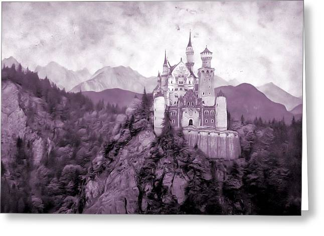 Moat Mountain Greeting Cards - Fantasy Castle Greeting Card by Dan Sproul