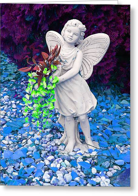 Wings Greeting Cards - Fantasy Fairy Greeting Card by Aimee L Maher Photography and Art