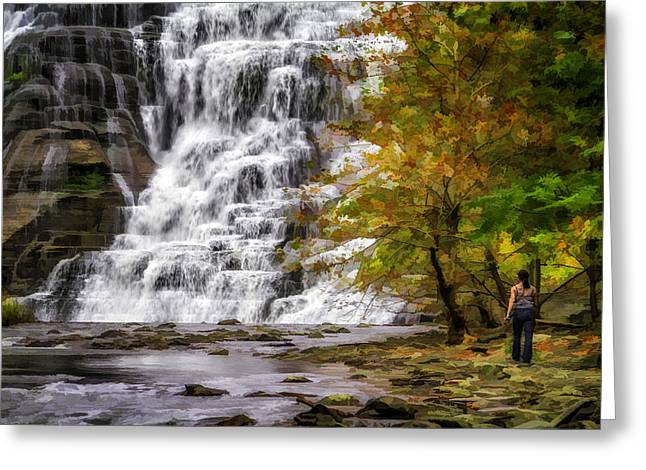 Ithaca Greeting Cards - Fantasy Fall For Her  1478ggP Greeting Card by Karen Celella