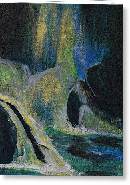 Storybook Greeting Cards - Fantasy Falls Greeting Card by Donna Blackhall