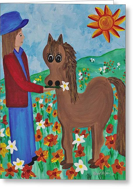 Fantasy Filly Greeting Card by Barbara St Jean