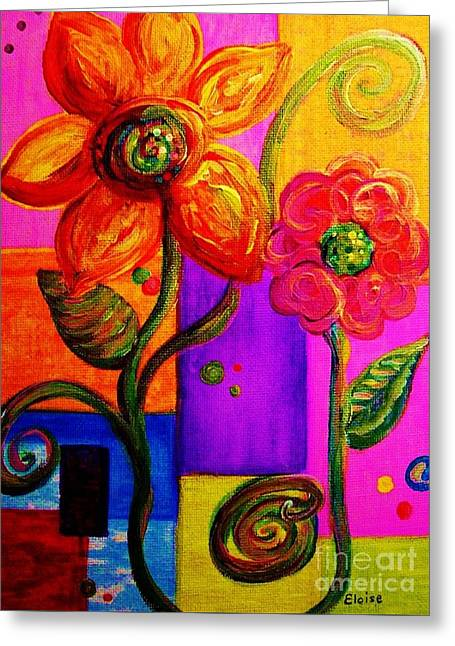 Vibrant Pastels Greeting Cards - Fantasy Flowers Greeting Card by Eloise Schneider