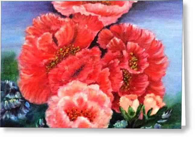Fantasy Flowers Greeting Card by Janis  Tafoya