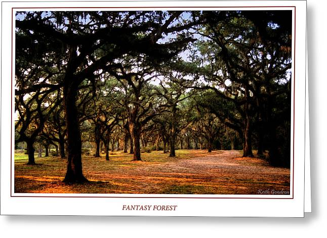 Lonly Greeting Cards - Fantasy Forest Greeting Card by Keith Gondron