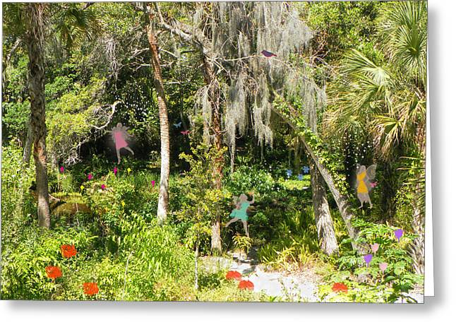 Rosalie Scanlon Greeting Cards - Fantasy Forest Greeting Card by Rosalie Scanlon