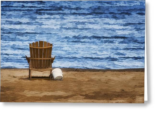 Sea View Greeting Cards - Fantasy Getaway Greeting Card by Joan Carroll