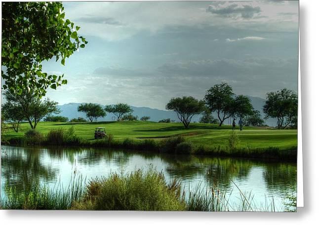 Tam Ryan Greeting Cards - Fantasy Golf Course Greeting Card by Tam Ryan