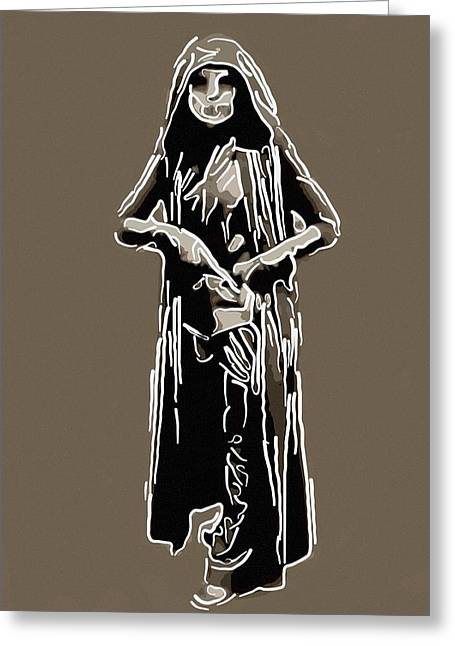 Vamp Greeting Cards - Fantasy gothic warrior Greeting Card by Toppart Sweden