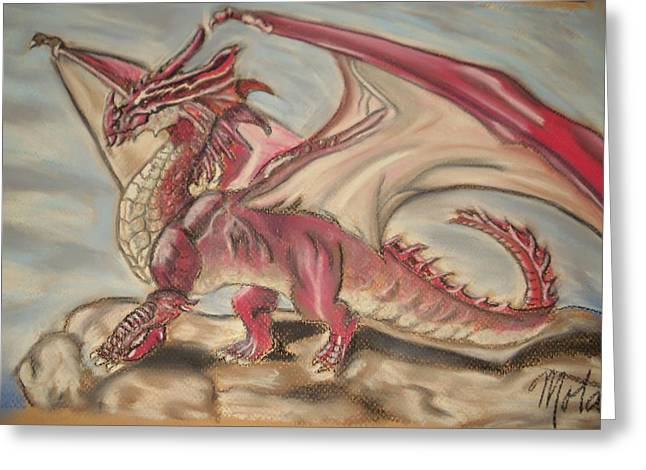 Fantasy Creatures Pastels Greeting Cards - Fantasy Greeting Card by Kathy Mota