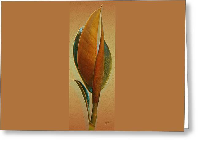 Fantasy Leaf Greeting Card by Ben and Raisa Gertsberg