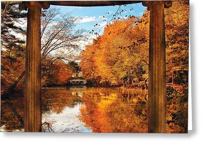 Fantasy - Paradise waits Greeting Card by Mike Savad