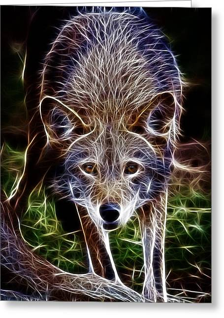 Preditor Greeting Cards - Fantasy Red Wolf Greeting Card by Steve McKinzie