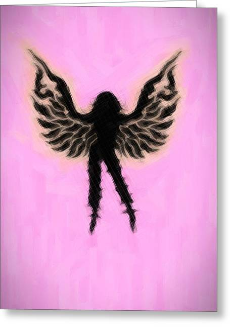Cute Mixed Media Greeting Cards - Fantasy woman Angelish Greeting Card by Toppart Sweden