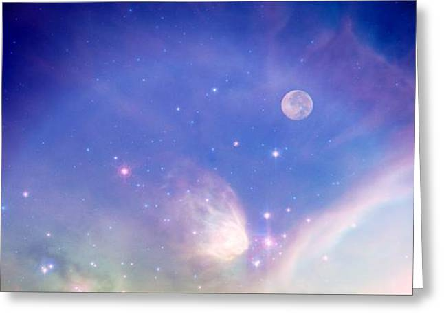 Book Cover Art Greeting Cards - Fantasy World Greeting Card by Michelle Frizzell-Thompson