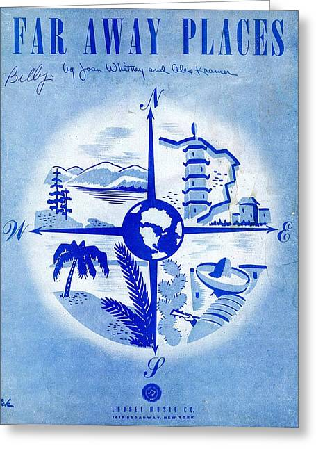 Tin Planes Greeting Cards - Far Away Places Greeting Card by Mel Thompson