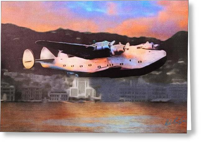 Clippers Mixed Media Greeting Cards - Far East Clipper Greeting Card by Robert Salazar