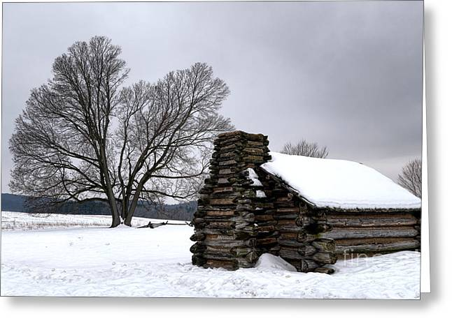 Old Cabins Greeting Cards - Far from the Battle Greeting Card by Olivier Le Queinec