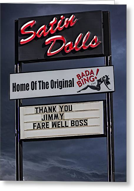 James Gandolfini Greeting Cards - Farewell Boss Greeting Card by Susan Candelario
