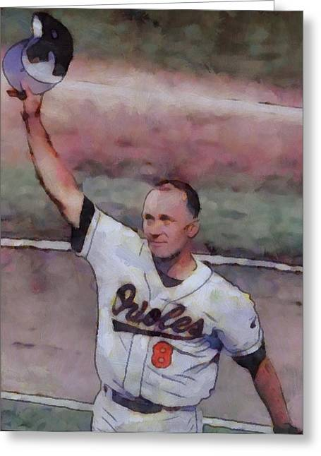 Ripken Greeting Cards - Farewell Cal Ripken Greeting Card by Dan Sproul