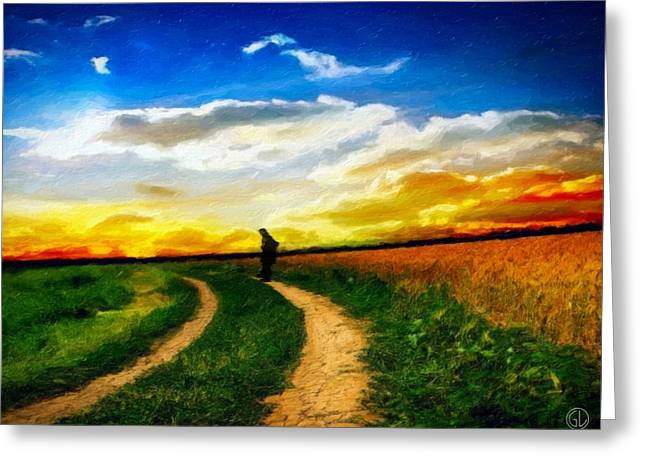 Wanderer Greeting Cards - Farewell Greeting Card by Gun Legler