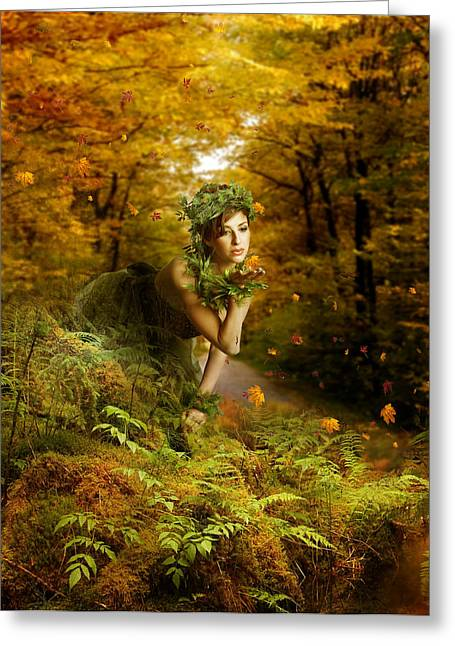 Fall Digital Art Greeting Cards - Farewell Greeting Card by Karen K
