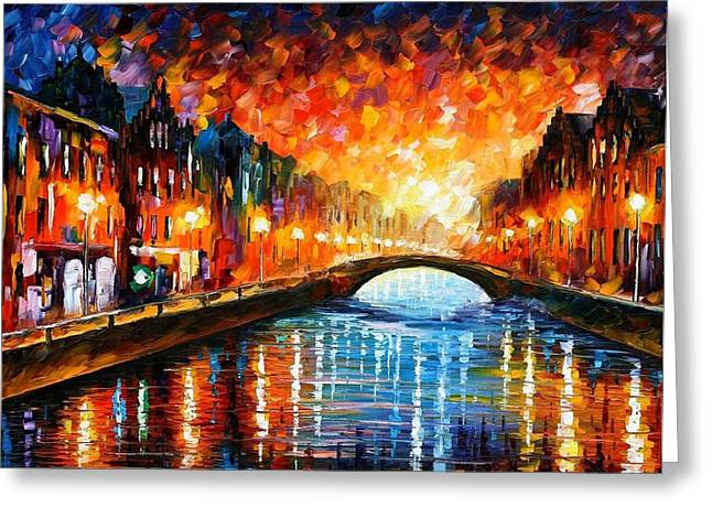 Owner Greeting Cards - Farewell Greeting Card by Leonid Afremov