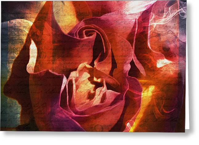 Zeana Romanovna Greeting Cards - Farewell My Lovely - Grunge Abstract Greeting Card by Georgiana Romanovna
