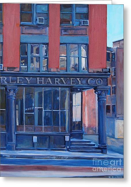 Kingston Paintings Greeting Cards - Farley Harvey Greeting Card by Deb Putnam